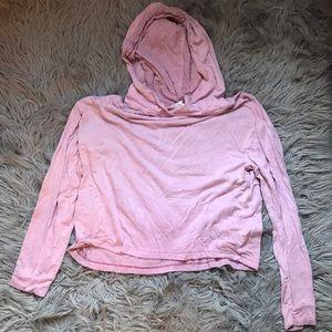 Pink long-sleeve crop-top